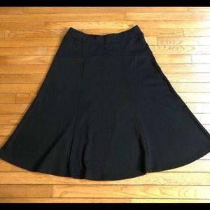 NEW JM Collection Flare Stretch Skirt Black SzL/XL